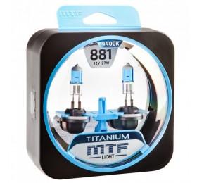 Автолампы H27-1 (881) MTF Titanium