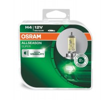 Автолампы H4 OSRAM Allseason (Всесезонные) +30%