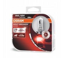 Автолампы H4 OSRAM Night Breaker Silver +100%