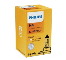 Автолампа H4 PHILIPS +30%