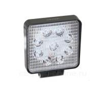 Светодиодная фара-прожектор квадратная 27W SLIM 10-30V