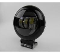 Светодиодная фара круглая 30W 10-30V линза