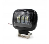 Светодиодная фара квадратная 30W 10-30V линза