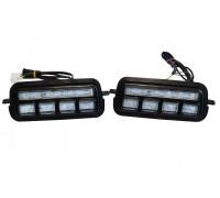 Светодиодные LED подфарники + бегущий поворотник Нива 4х4 / Нива Урбан