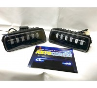 LED подфарники + бегущий поворотник Нива 4х4 / Нива Урбан 60Вт (Линзовые)