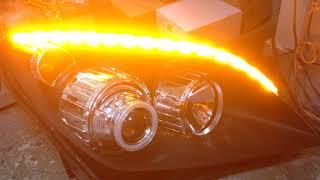 Дневные Ходовые Огни с динамическим поворотником Mercedes S стиль
