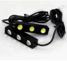 Дневные Ходовые Огни со встроенной линзой 6 LED 12V - 85*18*15мм