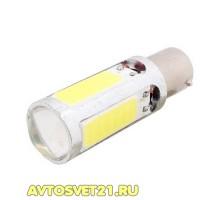 Лампа светодиодная P21W 7.5W cob 1-х конт.