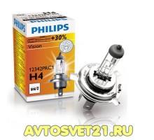 Автолампы H4 PHILIPS +30%