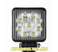 Светодиодная фара-прожектор квадратная 27W 10-30V