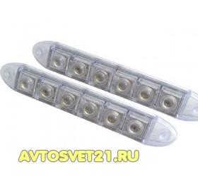 Дневные Ходовые Огни 2х6 LED 12V (Гибкие) - 200*18*28мм