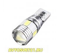 Лампа светодиодная w5w T10 6SMD Canbus с Линзой
