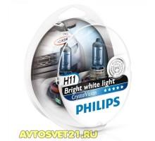 Автолампы H11 PHILIPS Crystal Vision