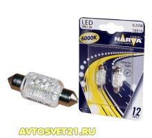 Лампы светодиодные c5w NARVA LED 6000K 38мм