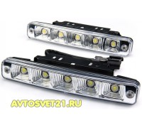 Дневные Ходовые Огни DRL 2х5 LED 12V - 185*40*28мм