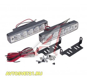 Дневные Ходовые Огни DRL 2х5 LED 9-32V - 150*40*28мм