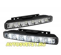 Дневные Ходовые Огни DRL 2х6 LED 12V - 180*43*22мм