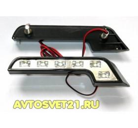 Дневные Ходовые Огни Mercedes Style 2х6 LED 12V
