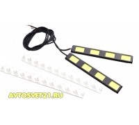 Дневные Ходовые Огни высокой мощности X-4LED 12V - 122*4*18мм