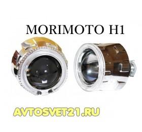 Биксеноновые линзы Morimoto H1 с ангельскими глазками