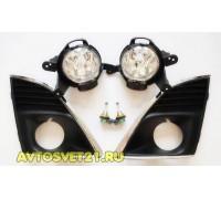 Фары противотуманные Шевроле Круз / Chevrolet Cruze 2013-по наст. с рамками