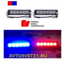 Стробоскоп FEDERAL SIGNAL 6 LED 12/24V 48Вт (Красно-Синий)