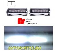 Стробоскоп FEDERAL SIGNAL 12/24V 48Вт (Белый) + Режим ДХО
